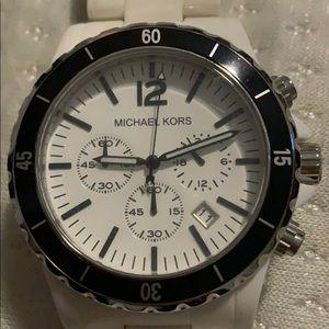 Michael kors white big face watch